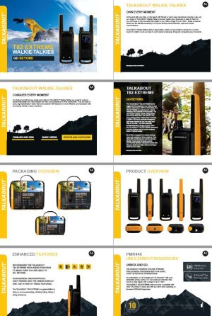Walkie talkie motorola T82 product informatie - HOFCON