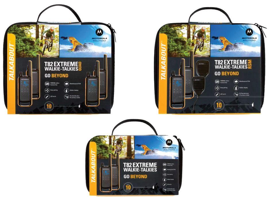 Motorola T82 licentievrije portofoons walkie talkie koffers