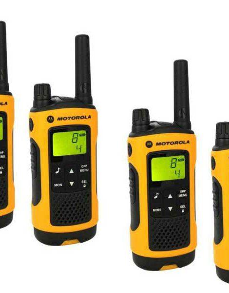 Vier Motorola portofoons bij HOFCON