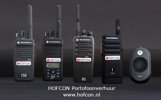 HOFCON Motorola portofoon verhuur