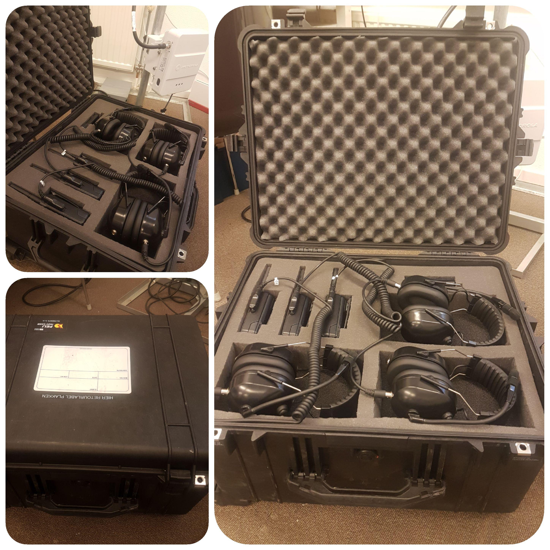 Koffer met verhuurportofoons